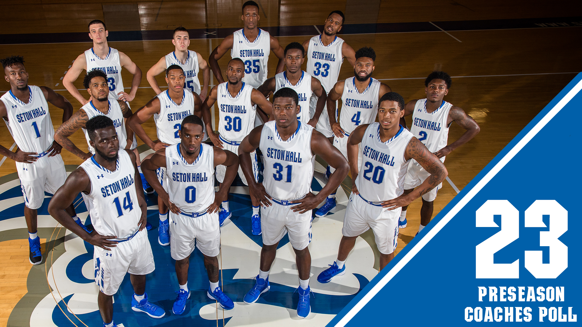 pirates start 2017-18 ranked no. 23 in coaches poll - seton hall